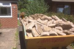 8 tonnes skip full of concrete from the excavation of the old original slab