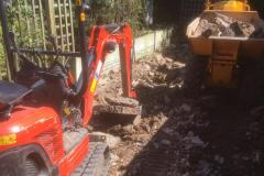Start of the digging out for the footings by the machines