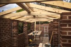 Joinery work to the Roof